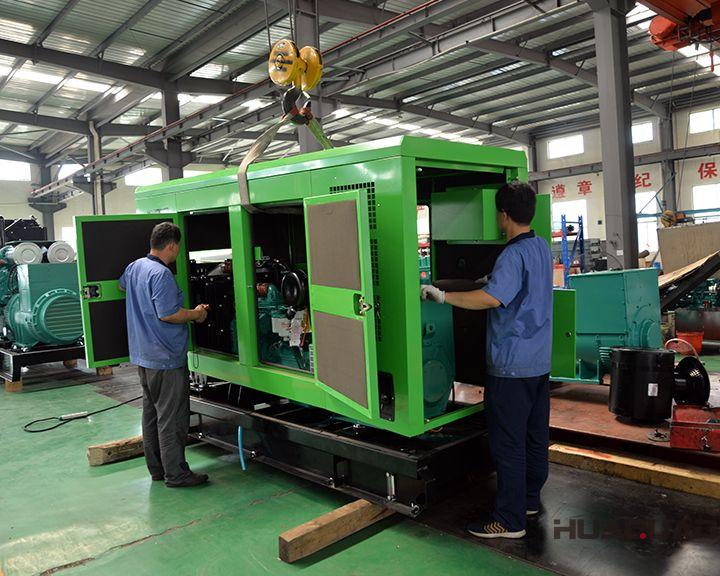 华全120kw康明斯静音发电机组于6月12发往广东