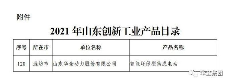 山东万博手机登录max动力股份有限公司研制生产的智能环保型集成电站成功入选该目录